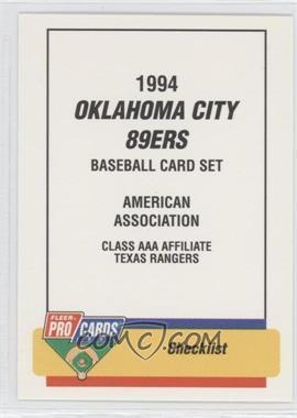 1994 Fleer ProCards Minor League #1511 - Oklahoma City 89ers Team