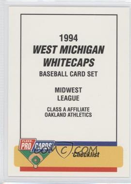 1994 Fleer ProCards Minor League #2314 - West Michigan Whitecaps Team