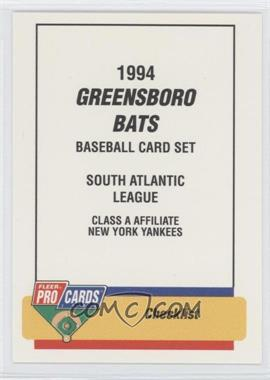 1994 Fleer ProCards Minor League #494 - Checklist