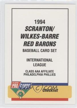 1994 Fleer ProCards Minor League #938 - Checklist
