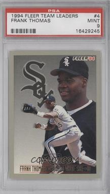 1994 Fleer Team Leaders #4 - Frank Thomas [PSA 9]