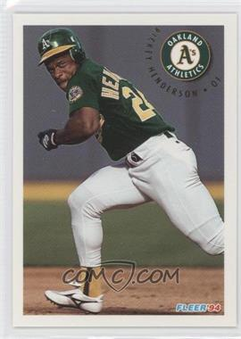 1994 Fleer Update Box Set [Base] #U74 - Rickey Henderson