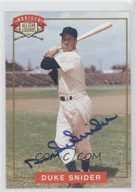 1994 Nabisco All-Star Legends Autographs [Autographed] #DUSN - Duke Snider