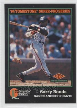 1994 Score Tombstone Pizza - Food Issue [Base] #3 - Barry Bonds