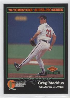 1994 Score Tombstone Pizza Food Issue [Base] #14 - Greg Maddux