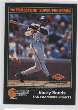 1994 Score Tombstone Pizza Food Issue [Base] #3 - Barry Bonds