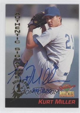 1994 Signature Rookies Signatures #A38 - Kurt Miller /8650