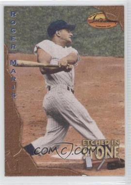 1994 Ted Williams Card Company - Etched in Stone #ES4 - Roger Maris