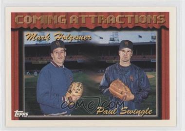 1994 Topps #765 - Mark Holzemer, Paul Swingle