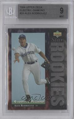 1994 Upper Deck Electric Diamond #24 - Alex Rodriguez [BGS 9]
