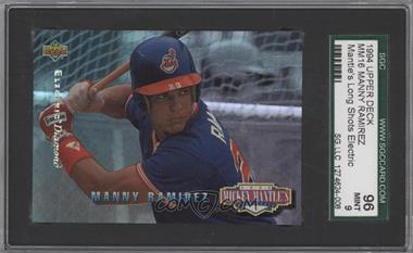 1994 Upper Deck Mickey Mantle's Long Shots Electric Diamond #MM16 - Manny Ramirez [SGC 96]