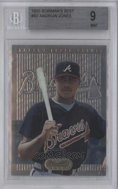 1995 Bowman's Best Blue #7 - Andruw Jones [BGS 9]