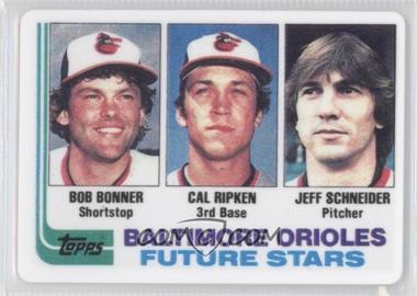 1995 R&N China Cal Ripken Jr. 1982 Topps Porcelain Reprints #21 - Bobby Bonilla, Cal Ripken Jr., Jeff Schneider /2130