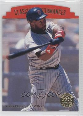 1995 SP Championship Series Classic Performances Die-Cut #CP8 - Kirby Puckett