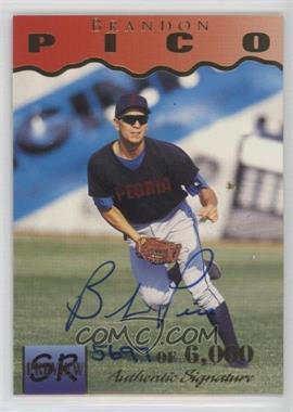 1995 Signature Rookies - Previews - Signatures [Autographed] #28 - Brandon Pico /6000