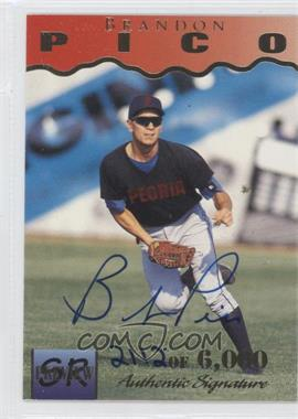 1995 Signature Rookies Previews Signatures [Autographed] #28 - Brandon Pico /6000