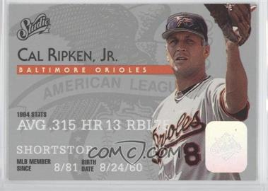1995 Studio - [Base] #8 - Cal Ripken Jr.