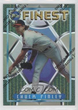 1995 Topps Finest Refractors #87 - Chuck Finley