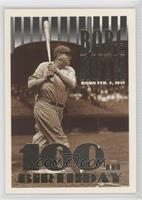 Babe Ruth (Error: Missing Topps Logo on Top Left Corner)