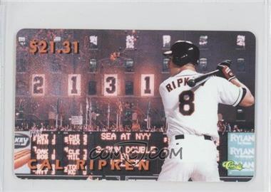 1996 Classic Cal Ripken, Jr Phone Cards #N/A - Cal Ripken Jr.
