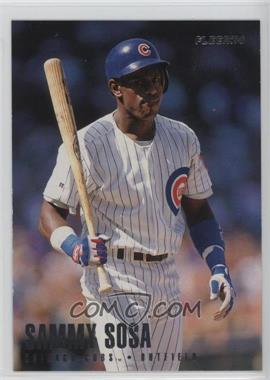 1996 Fleer Team Sets Chicago Cubs #17 - Sammy Sosa