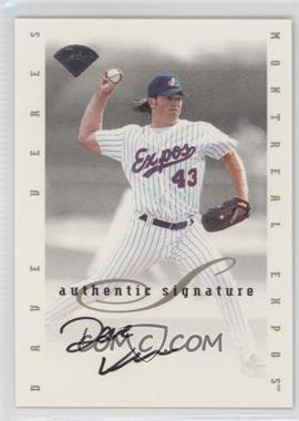 1996 Leaf Signature Series Signatures Update [Autographed] #DAVE - Dave Veres