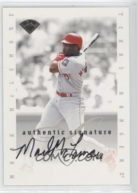 1996 Leaf Signature Series Signatures Update [Autographed] #N/A - Mark McLemore