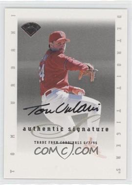 1996 Leaf Signature Series Signatures Update [Autographed] #TOUR - Tom Urbani