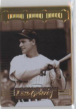 1996 Metallic Impressions Cooperstown Collection Lou Gehrig Collector's Tin [Base] #2 - Lou Gehrig