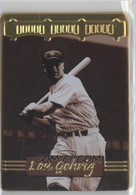 1996 Metallic Impressions Cooperstown Collection Lou Gehrig Collector's Tin [Base] #4 - Lou Gehrig