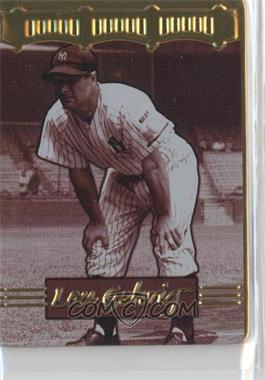 1996 Metallic Impressions Cooperstown Collection Lou Gehrig Collector's Tin [Base] #5 - Lou Gehrig