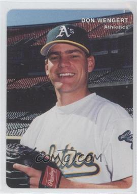 1996 Mother's Cookies Oakland Athletics Stadium Giveaway [Base] #23 - Don Wengert