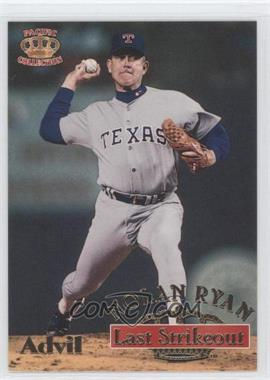 1996 Pacific Crown Collection Advil Nolan Ryan #2a - Nolan Ryan
