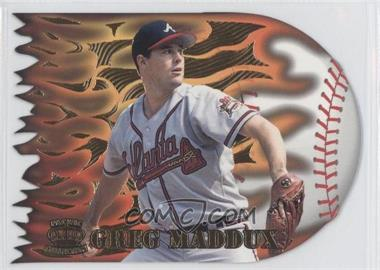 1996 Pacific Prisms Flame Throwers #FT-7 - Greg Maddux