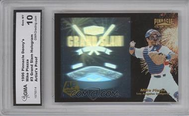 1996 Pinnacle Denny's Grand Slam Holograms Artist's Proof #3 - Mike Piazza [ENCASED]