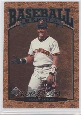 1996 SP Baseball Heroes #84 - Barry Bonds