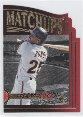 1996 SP Marquee Matchups Die-Cut #MM8 - Barry Bonds