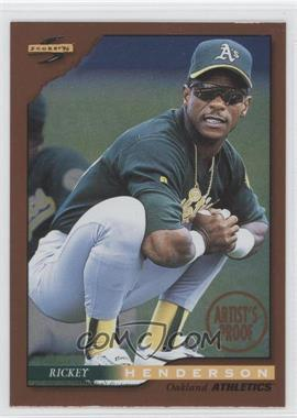 1996 Score Dugout Collection Artist's Proof #10 - Rickey Henderson