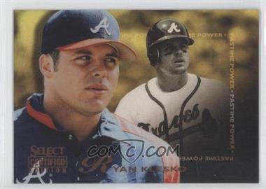 1996 Select Certified Edition - [Base] - Mirror Gold #144 - Ryan Klesko /30