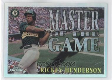 1996 Topps Chrome - Master of the Game - Refractor #MG6 - Rickey Henderson