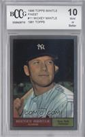 Mickey Mantle (1961 Topps) [ENCASED]