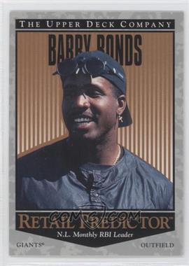 1996 Upper Deck - Retail Predictor #R43 - Barry Bonds