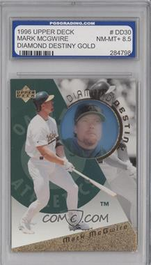1996 Upper Deck Diamond Destiny Gold #DD30 - Mark McGwire [ENCASED]