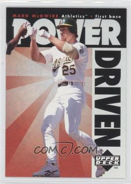 1996 Upper Deck Power Driven #PD10 - Mark McGwire