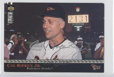 1996 Upper Deck Retail Factory Set The Ripken Collection Jumbo #1 - Cal Ripken Jr.