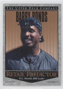 1996 Upper Deck Retail Predictor #R43 - Barry Bonds