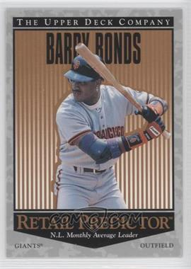 1996 Upper Deck Retail Predictor #R55 - Barry Bonds