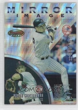 1997 Bowman's Best Mirror Image Atomic Refractor #MI1 - Barry Larkin, Hiram Bocachica, Derek Jeter, Nomar Garciaparra