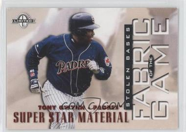 1997 Donruss Limited Fabric of the Game #2 - Tony Gwynn /500
