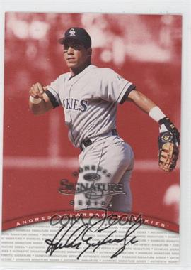 1997 Donruss Signature Series Authentic Signature #ANGA - Andres Galarraga